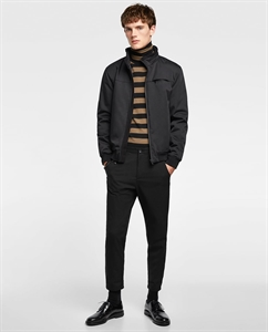 TEXTURED WEAVE TECHNICAL JACKET