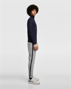STRIPED CHINOS WITH SIDE TRIM DETAIL