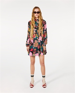 FLORAL DRESS WITH ZIP