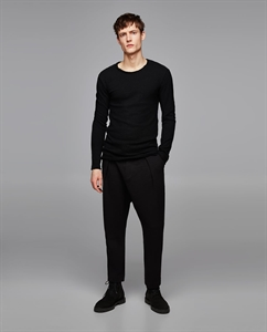 LONG SWEATSHIRT WITH PIPED SEAMS
