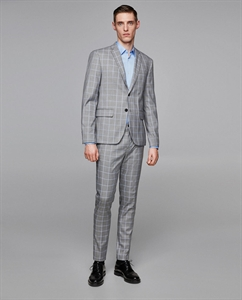 CHECKED SUIT BLAZER