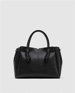 MIDI TOTE BAG WITH KNOTTED DETAIL