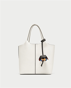 MINI TOTE BAG WITH FLOWER PENDANT