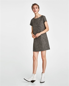 CHECKED DRESS WITH BACK DETAIL