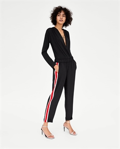 FLOWING TROUSERS WITH SIDE STRIPE