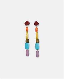 COLOURFUL WOOD EARRINGS