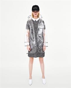 JACQUARD DRESS WITH POPLIN COLLAR