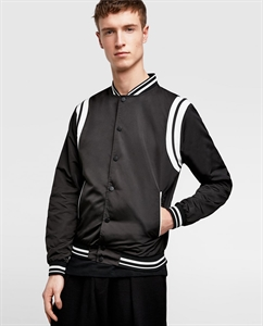 LIGHTWEIGHT BOMBER JACKET WITH PIPING