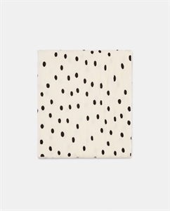 PLEATED SCARF WITH BLACK POLKA DOTS