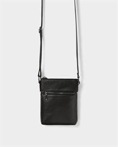 BLACK MINI CROSSBODY BAG WITH ZIP