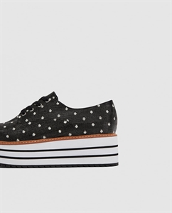 PLATFORM DERBY SHOES WITH POLKA DOTS