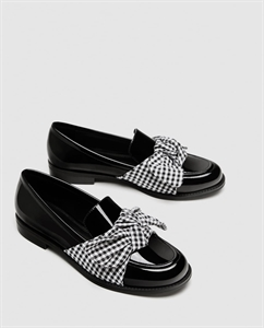 LOAFERS WITH FABRIC BOW DETAIL
