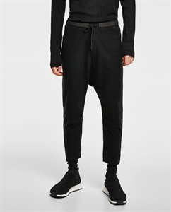 BAGGY TEXTURED WEAVE TROUSERS