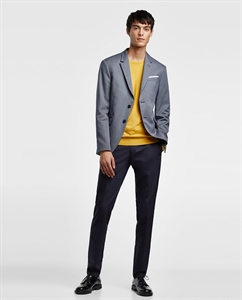 TEXTURED WEAVE RELAXED FIT BLAZER