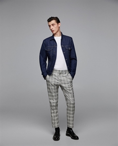 CHECKED TROUSERS WITH ZIPS