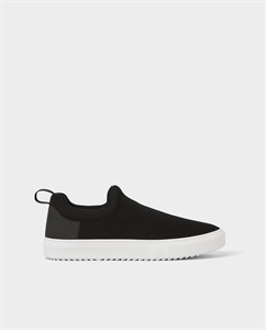 BLACK TECHNICAL FABRIC SNEAKERS