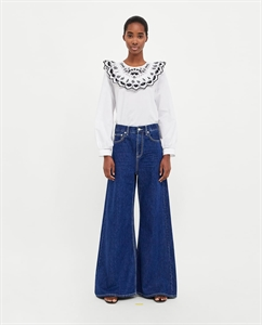 JEANS WIDE LEG CONTRAST STITCHING