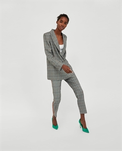 CHECKED TROUSERS WITH SIDE STRIPES