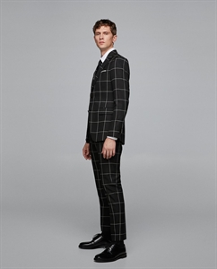 WINDOW PANE CHECKED SUIT TROUSERS