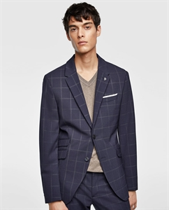 WINDOWPANE CHECKED SUIT BLAZER