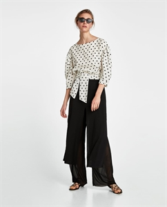 SKIRT-STYLE TROUSERS WITH SLITS