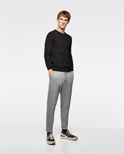 PIQUÉ TROUSERS WITH STRIPE DETAIL