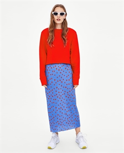 CROPPED SWEATSHIRT WITH PUFFED SHOULDERS