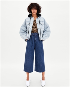 CULOTTE JEANS WITH BELT