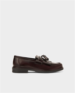 BURGUNDY LEATHER LOAFERS