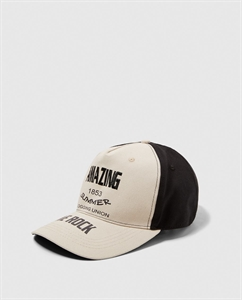 TWO-TONE CAP WITH SLOGAN