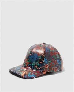 PRINTED FAUX LEATHER CAP