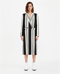 LONG STRIPED COAT