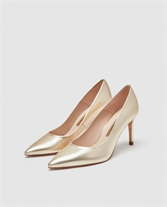 LEATHER HIGH-HEEL COURT SHOES