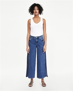CULOTTE JEANS WITH SIDE TRIMS