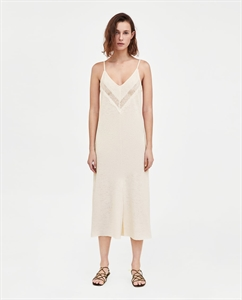 TEXTURED DRESS WITH STRAPS