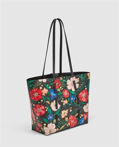 REVERSIBLE FLORAL PRINT TOTE BAG