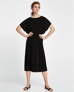 PLEATED TUNIC WITH BELT