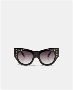 PLASTIC FRAME SUNGLASSES WITH ENCRUSTED DETAILING