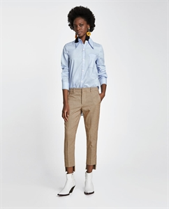 ASYMMETRIC CHECKED TROUSERS