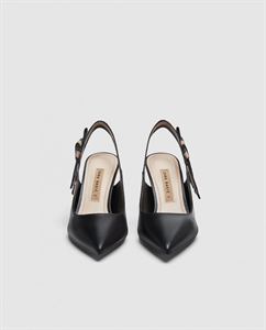LEATHER SLINGBACK SHOES WITH RIBBON DETAIL
