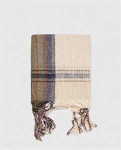 SCARF WITH KNOTTED FRINGE