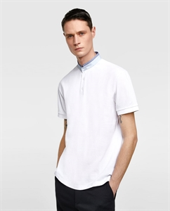 PIQUÉ POLO SHIRT WITH PIPING