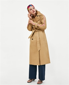 TRENCH COAT WITH SIDE STRIPES