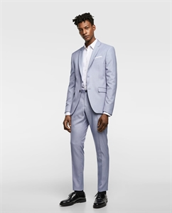 TEXTURED WEAVE SUIT TROUSERS