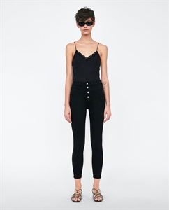THE HIGH WAIST JEANS WITH BUTTON FLY