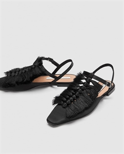 SLINGBACK SHOES WITH FRINGE