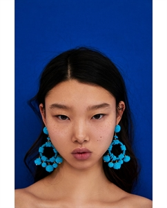 BEADED CIRCULAR EARRINGS