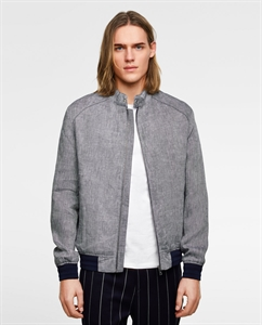 LINEN TEXTURED WEAVE JACKET