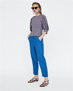 PLEATED CHECKED TOP