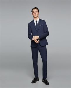 STRUCTURED TECHNICAL SUIT TROUSERS